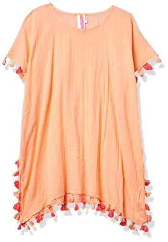 Seafolly Mädchen Kaftan Swim Cover Up Dress Bademodeüberzug, Summer Essentials Pfirsich-Nektar, M/L