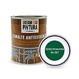 Pintura Verde Primavera Antioxidante Exterior para Metal minio Pinturas Esmalte Antioxido para galvanizado, hierro, forja, barandilla, chapa para interiores y exteriores - Lata 750ml