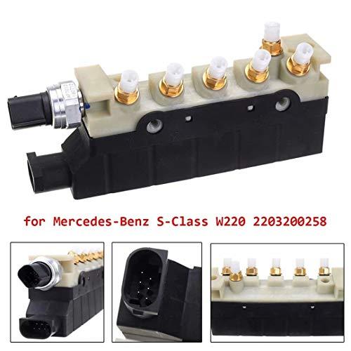 GZ Bravo Air Suspension Compressore Blocco Valvola per Valvola di Sospensione Aria Classe S W220 2203200258 2113200304