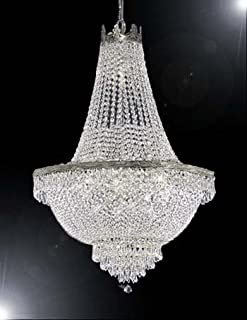 "French Empire Crystal Chandelier Lighting - Great for the Dining Room, Foyer, Living Room! H24"" X W24"""