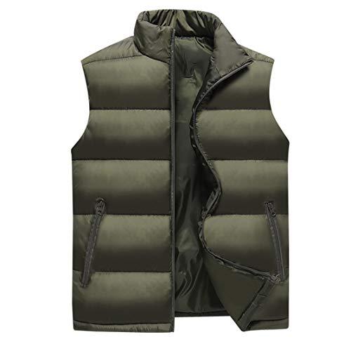 Herren Daunenweste Winterweste aus lässiger Baumwolle Dicke warme Jacke 360-Stereo-Sperrtemperatur Winddicht und atmungsaktiv,C,4XL
