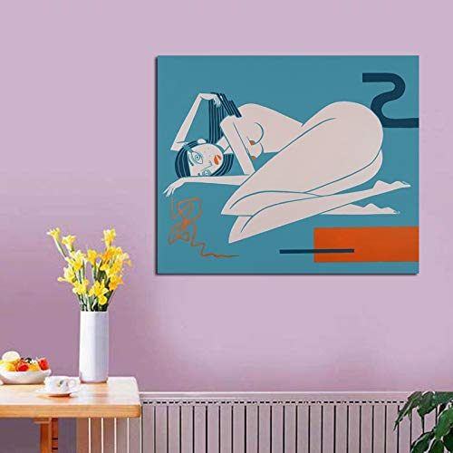 AQgyuh Puzzle 1000 Piezas Cuadro de Arte de Pintura Abstracta Mujer Desnuda Puzzle 1000 Piezas paisajes Rompecabezas de Juguete de descompresión Intelectual Rompecabezas de juguete50x75cm(20x30inch)