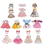 Lembani 11 Sets Cute Dolls Clothes Party Dress Outfits for 5-6inch Mini Girl Dolls, Fashion Doll Handmade Clothes Accessory for Kids Birthday Xmas Gifts