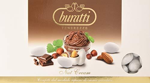 Buratti Confetti con Ripieno al Gusto di Gianduia, Tenerezze Nut Cream - 1000 g