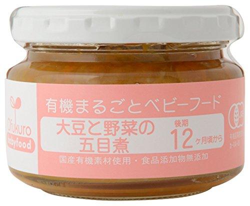 Ofukuro 有機まるごとベビーフード 大豆と野菜の五目煮 【後期12ヶ月頃から】 100g ×6個
