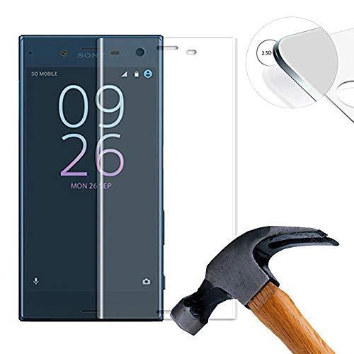 Lusee 2 X Pack (vollständige Abdeckung) 3D 9H Panzerglasfolie für Sony Xperia XZs G8231 5.2 Zoll Tempered Glass Bildschirmschutz Screen Folie(Transparent)