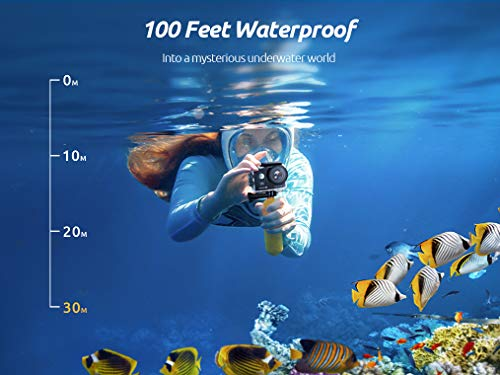 VanTop Moment 4U 4K Action Camera 20MP Underwater Waterproof Camera with EIS, External Microphone, Touch Screen, Slow… 2 Fabulous 4K Action Camera: Featuring professional 4K/30FPS video and 20MP photo resolution, VanTop Moment 4U action camera captures crystal clear and sharp footages for your adventures. The IPS touch screen and humanized operating interface make it easier to set up the camera. Just enjoy the moment for you Hyper-Stable EIS Technology: Built-in advanced Electronic Image Stabilization (EIS) helps to counteract any bump, shake or camera tilt and delivers shake-free, extremely stable and stunning videos. VanTop Moment 4U action camera is built for movements and adventures Waterproof Up to 100FT: You can explore the mysterious submarine world with this underwater camera with its included high quality waterproof case on. It is ideal for water sports such as snorkeling, diving, swimming, surfing, etc. Snap the moments you can't get with your phone with this VanTop Moment 4U