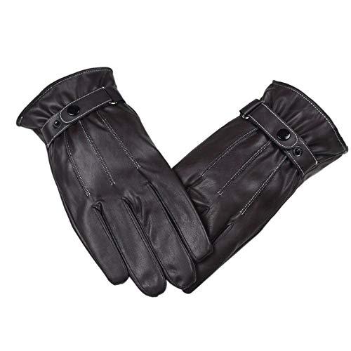 CSXM lederhandschuhe Herrenmode Lederhandschuhe Herrenhandschuh Warm Herren braune Lederhandschuhe Driving Warm Gloves-A