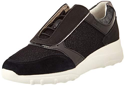 Geox D ALLENIEE C, Zapatillas Mujer, Negro, 40 EU