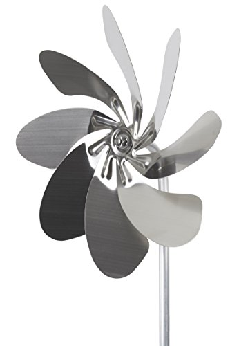steel4you A1003 Windrad Speedy28 aus Edelstahl (28cm Rotor-Durchmesser), kugelgelagert - Made in Germany
