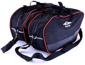 Bestem (LGDU-MUL12-SDL-R) Black Saddlebag Liners with Red Piping for Ducati Multistrada 1200 - Pair