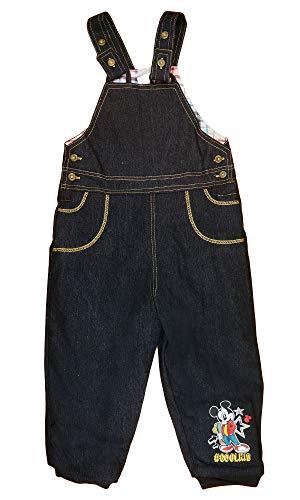 Minnie Mouse Disney Baby Jungen Thermo-Jeans-Latz-Hose warme Dicke gefütterte Hose in Größe 62 68 74 80 86 92 98 104 Freizeit-Hose für Herbst-Winter Farbe Modell 1, Größe 98