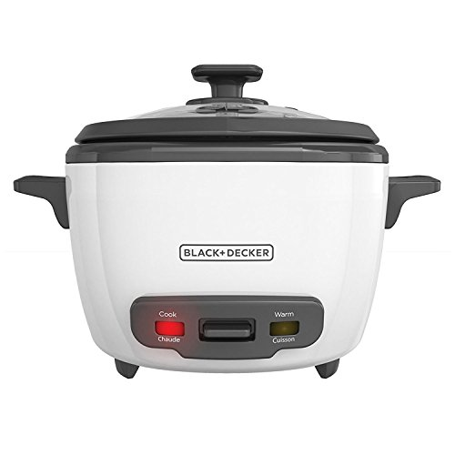 BLACK+DECKER 2-in-1 Rice Cooker and Food Steamer, 16 Cup (7 Cup Uncooked), White, RC516C