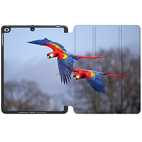 SDH Funda para iPad de 9,7 pulgadas 2018 2017,iPad Air 1 / iPad Air 2 Smart Cover Folio Stand Protector para Apple iPad 5ª 6ª generación (A1822/A1823/A1893/A1954), Cute Parrot 3