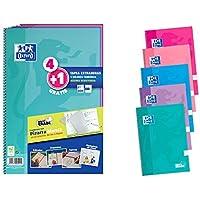 Oxford Pack 4+1 Cuadernos Fº Te School Write&Erase 80H 4X4 Surtido Tendencia