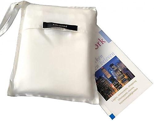 Silkmood Drap de sac de couchage en soie  doubleure de sac de couchage en soie, poche à oreiller intégré, 100% soie