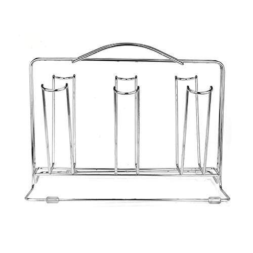 MxZas Restaurant Decoration Upside Down Glass Drying Rack Wine Glass Holder Kitchen Stainless Steel Drain Cup Holder Home Cup Glass Drying Rack (Color : Chrome, Size : One size)
