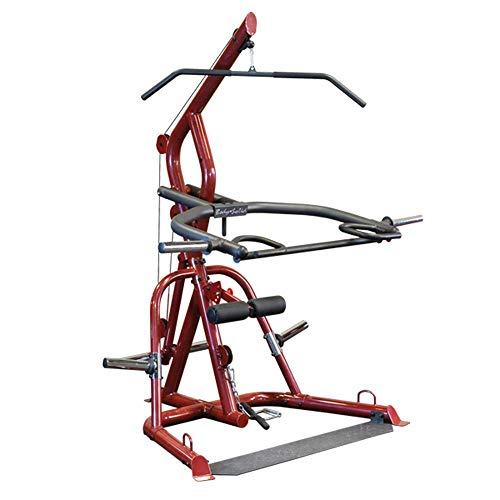 Body-Solid GLGS100 Corner Leverage Gym for Strength Training, 3 Station Exercise Equipment,Red