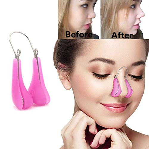 Lenlorry Nose Shaper Lifter Clip Nose Beauty Up Lifting Soft Safety Silicone Rhinoplasty Nose Bridge Straightener Corrector Slimming Device for Wide Crooked Nose Women Men Girls Ladies (purple)