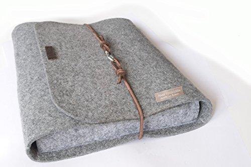 personalisierte für MacBook 13/15 Zoll Filz Hülle Laptoptasche Namen Laptophülle 15 Zoll Leder Karabiner retro vintage Laptop Tasche Buchstaben