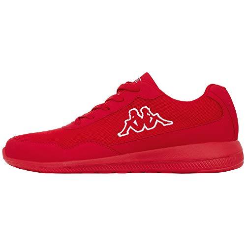 Kappa FOLLOW OC | Freizeit-Sneakers für Frauen und Männer | super-leicht, modisch und zeitlos | angenehmes Tragegefühl | atmungsaktiv, Größe 36 - 462010 red/white, Größe 45