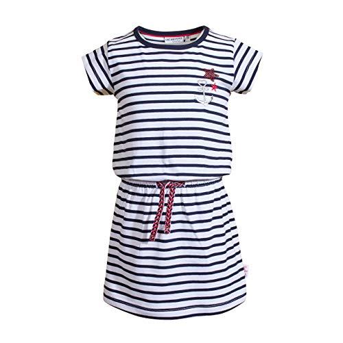 SALT AND PEPPER Mädchen Dress Voyage Stripes Sequins Kinderkleid, Navy, 116/122