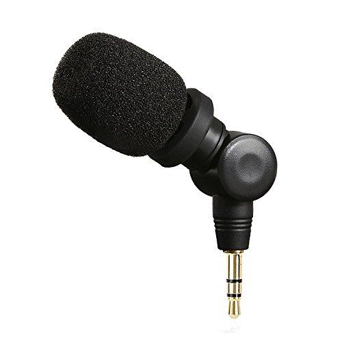 Saramonic XM1 3.5mm TRS Micrófono para cámaras DSLR, micrófono omnidireccional plug and play para videocámaras, grabadora de voz digital, CaMixer, SmartMixer, LavMic, SmartRig + y UWMIC9 / UWMIC15