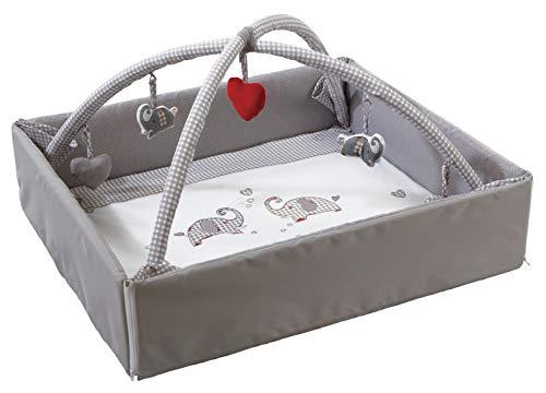 roba Baby Nest 4in1 'Jumbotwins', abwaschbare Wickelauflage mit Absturzsicherung, Kuschelnest, Spiel- & Krabbeldecke, Activity Center mit Spielbogen & Spielelementen & Laufgittereinlage