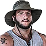 Fishing Hat Safari Cap with Sun Protection for Men and Women (Army Green)