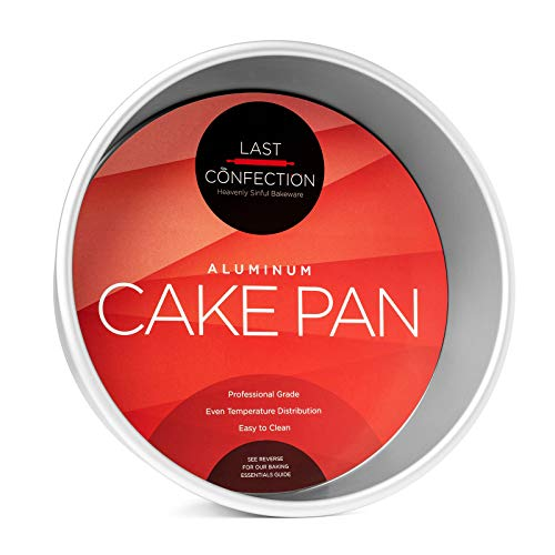 "9"" x 3"" Deep Round Aluminum Cake Pan - Professional Bakeware"
