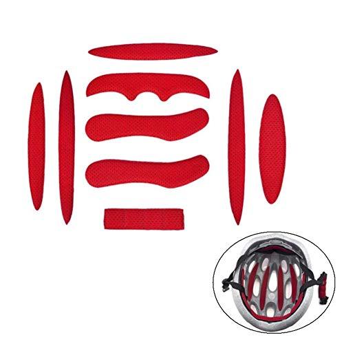 Iswell Helmpolster-Kit Universal-Schaumstoffpolster-Set Universal-Airsoft-Helmpolster für Fahrräder Motorrad-Fahrradhelm Ersatzpolster-Kissen mit Klettverschluss - 6