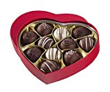 No Whey Foods - Chocolate Truffle Heart Box (11 Pieces) - Allergy Friendly And Vegan Valentine's Day...