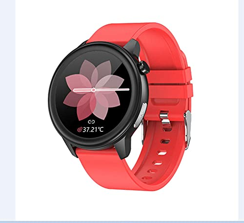 Reloj Inteligente Ip68 Impermeable Reloj Inteligente con Temperatura Corporal Oxígeno en Sangre Temperatura Continua Ritmo Cardíaco Monitoreo Respiratorio Fitness Tracker-C