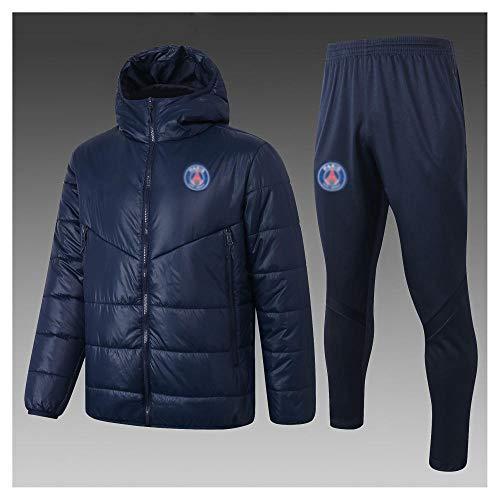 caijj Neue Herren Fußball Uniform Geschenk Baumwolle Kleidung Fußball kältesicher Fußballfan kältesicher Anzug Fußball Hoodie männlich-B4-M.