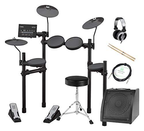 Yamaha DTX402K Compact E-Drum Kit (Set inkl. Verstärker, Hocker, Kopfhörer, Kabel und Sticks)