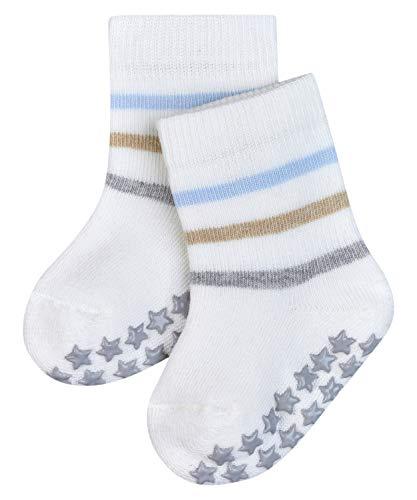 FALKE Unisex Baby Multi Stripe Catspads B HP Hausschuh-Socken, Weiß (Off-White 2040), 74-80