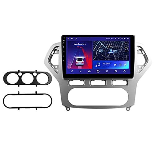 ADMLZQQ Android 10 Multimedia para automóvil, Navegación GPS para Ford Mondeo 4 2006-2010 Radio Bluetooth Espejo Enlace 4G WiFi DSP Control del Volante Cámara Trasera,8core 4g+wif: 3+ 32g