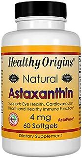 Healthy Origins Astaxanthin (AstaPure) 4 mg, 60 Softgels