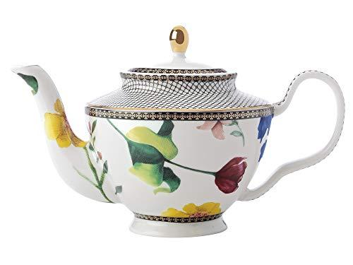 Maxwell & Williams Teas & C's Tetera pequeña con infusor y diseño de contessa, Porcelana, Blanco