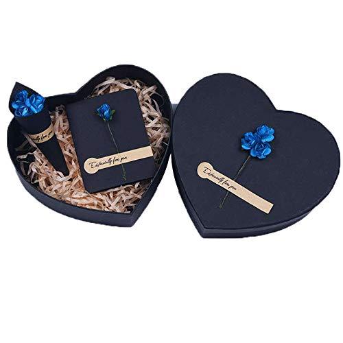 Warmhouse Estuche De Regalo En Forma De Corazón Negro, Caja De Regalo Romántico, Multiusos, para Cumpleaños, Aniversario, Regalo De Empresa-B-M
