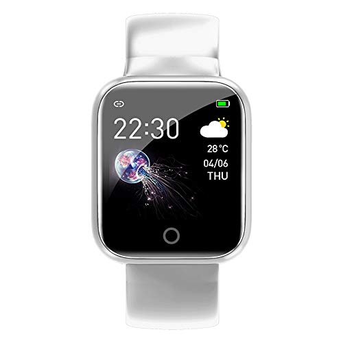Torntisc I5 for Apple Watch Pedometer Music Control Multiple Dials Heart Rate Fitness Smartwatch Men Women Android iOS VS B57 Brand:TONWIN (Color : White)