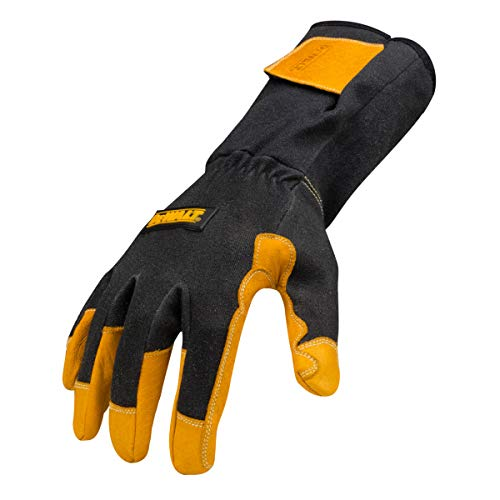 Dewalt Premium TIG Welding Gloves, Adjustable, Gauntlet-Style Cuff, Large