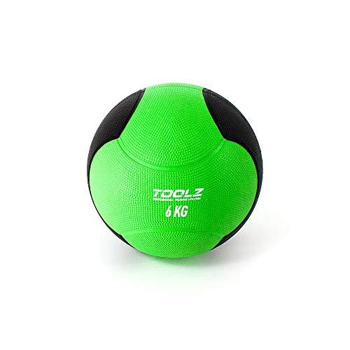 TOOLZ Medicine Ball 6 Kg - Balón Medicinal para el Entrenamiento de Fuerza de Alta Velocidad, Fuerza explosiva y Resistencia de Fuerza