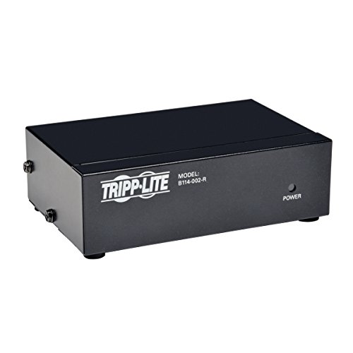 Tripp Lite 2-Port VGA Splitter with Signal Booster High Resolution Video, 350MHz, 2048x1536 (HD15 M/2xF)(B114-002-R)