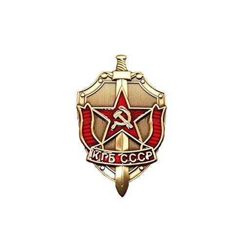Comidox 1 Stück KGB sowjetische russische Abzeichen Medaille Sichel & Hammer Emblem UDSSR KGB CCCP