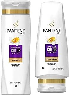 Pantene Pro-V Radiant Color Volume Shampoo and Conditioner Set, 12.6 Fl Oz and 12 Fl Oz (Set Contains 2 items)