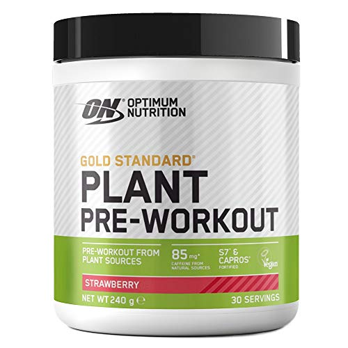 Optimum Nutrition ON Gold Standard Plant Pre-workout, Vegan Pre Workout Powder Supplement with Caffeine, Strawberry, 30 Servings, 240 g