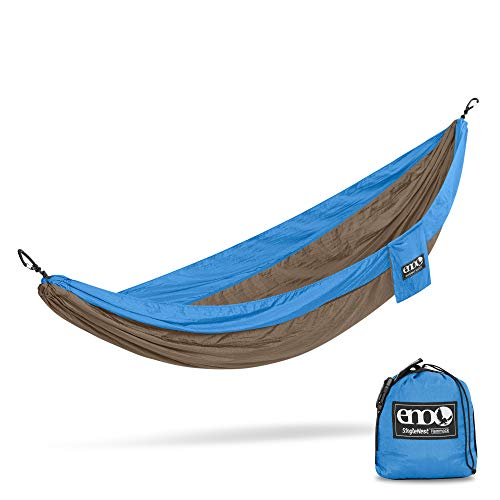 ENO, Eagles Nest Outfitters SingleNest Lightweight Camping Hammock, Teal/Khaki