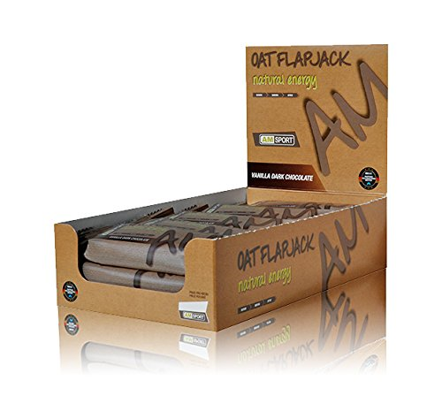 AMSPORT - Oat Flapjack Natural Energy - Vanilla Dark Chocolate - 15 x Kohlenhydratriegel á 50g - Box