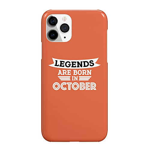 Legends are Born in October_MRZ2409 - Funda protectora de plástico duro para teléfono móvil para Huawei P20 Pro